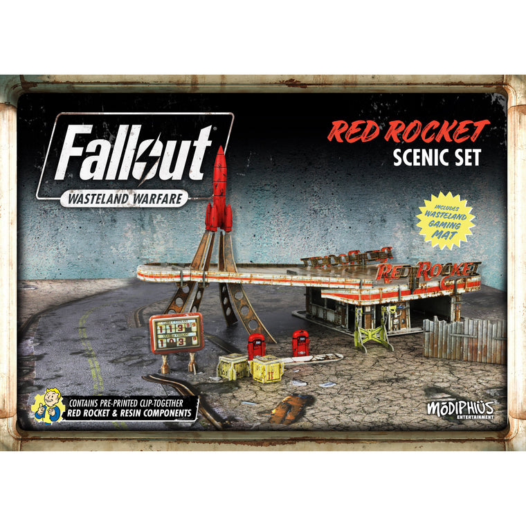 Fallout Wasteland Warfare Red Rocket Scenic Set
