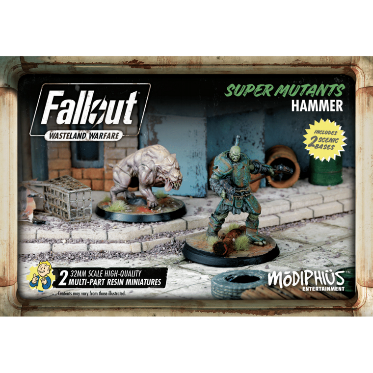 Fallout Wasteland Warfare Super Mutant Hammer Set