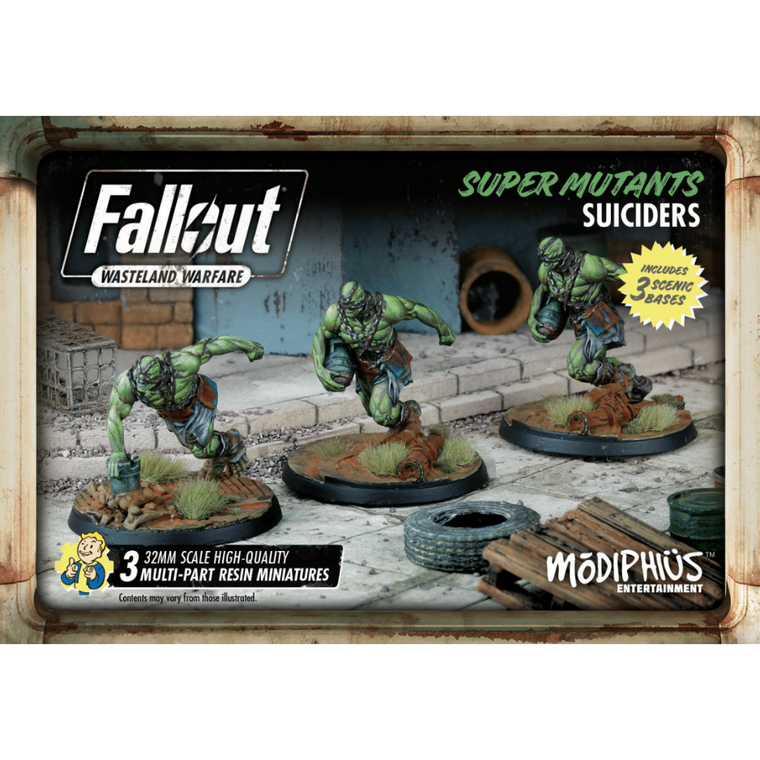 Fallout Wasteland Warfare Super Mutant Suiciders Set