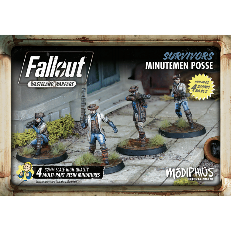 Fallout Wasteland Warfare Survivors Minutemen Posse Set