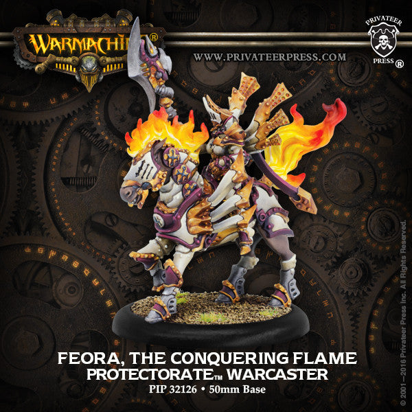 Warmachine Protectorate of Menoth Feora, The Conquering Flame