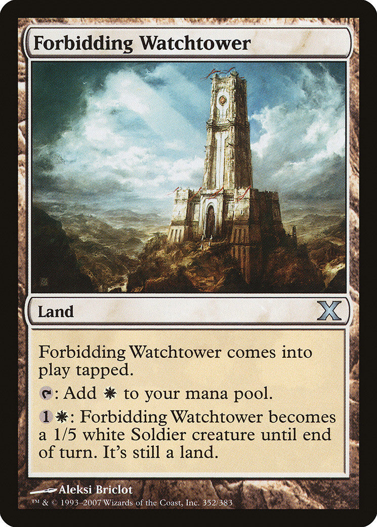 10th Edition Forbidding Watchtower