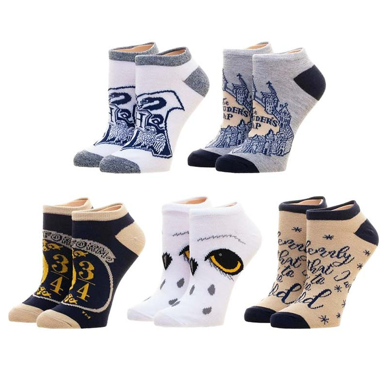 Harry Potter - Holiday Hogwarts Juniors Ankle Socks 5 Pack