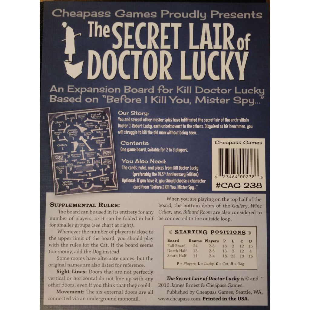 Kill Doctor Lucky The Secret Lair of Doctor Lucky