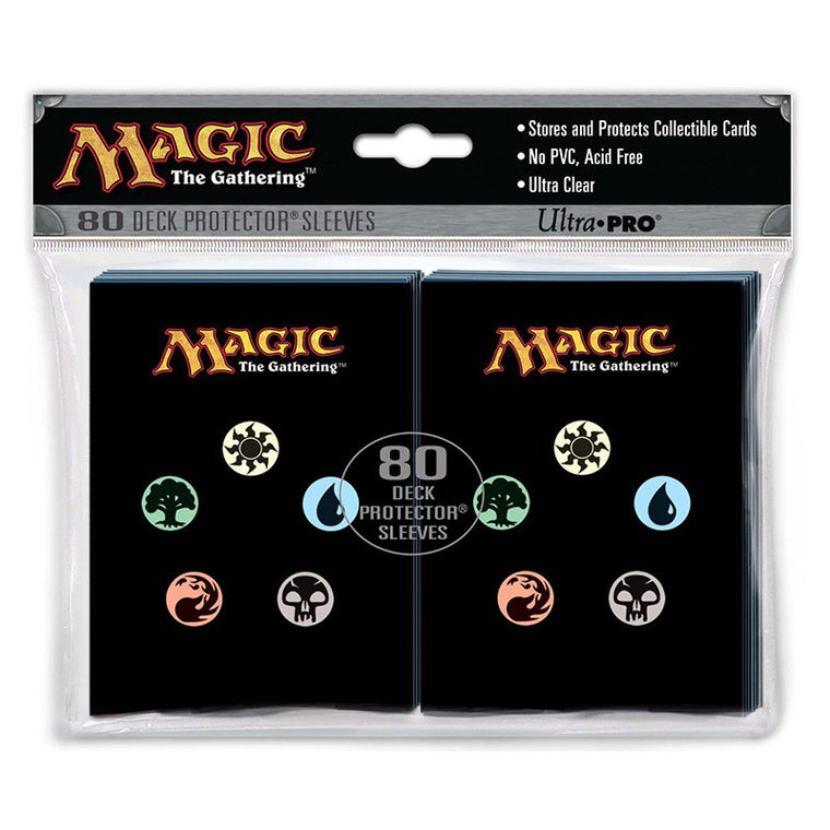Ultra Pro Deck Protector Sleeves Magic The Gathering Mana Symbols 80