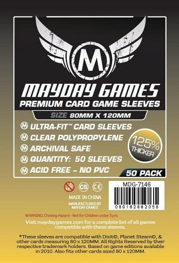 Mayday Games Magnum Premium Card Sleeves 80mm x 120mm 50CT