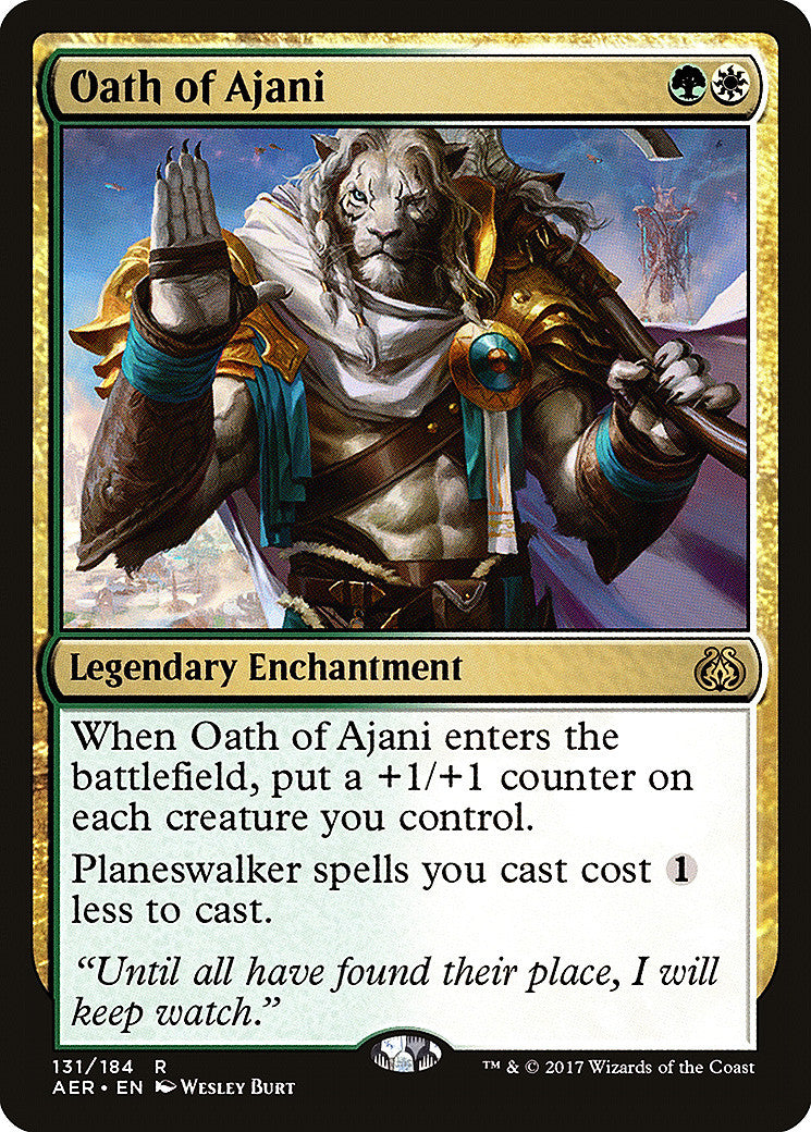 Aether Revolt Oath of Ajani