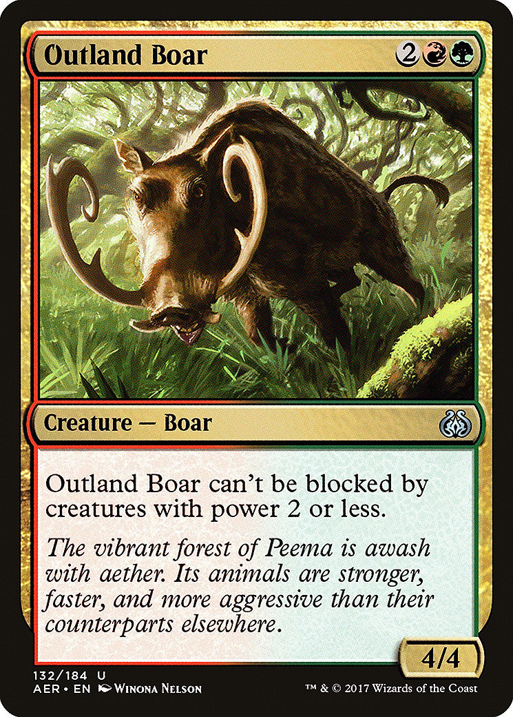 Aether Revolt Outland Boar