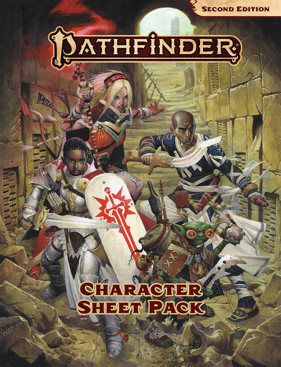 Pathfinder Second Edition Character Sheet Pack