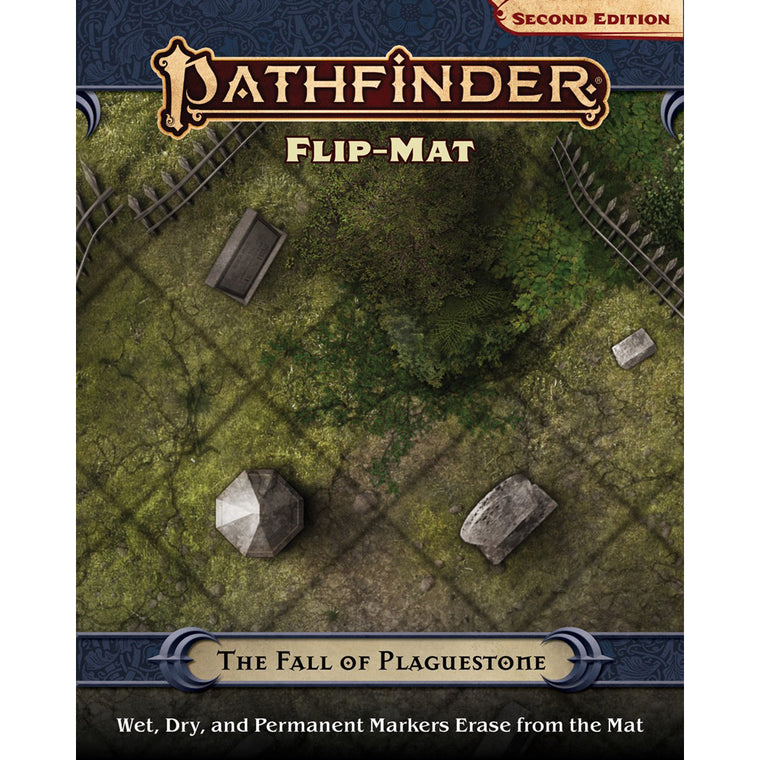 PRE-ORDER Pathfinder Second Edition Flip-Mat The Fall of Plaguestone
