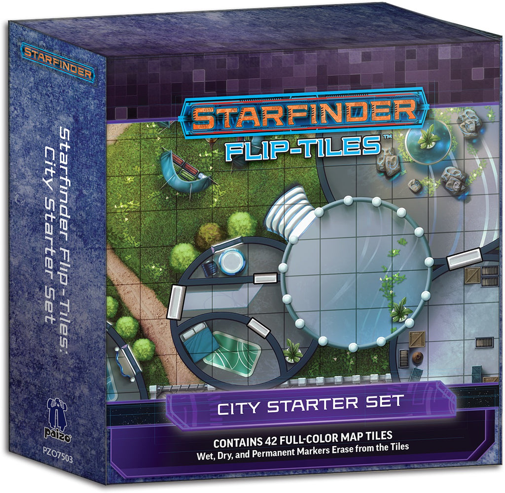Starfinder Flip-Tiles: City Starter Set