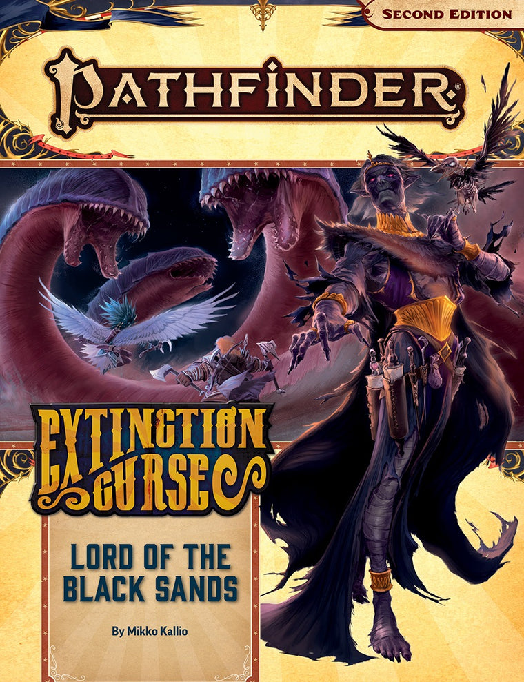 Pathfinder Second Edition Adventure Path #155 Lord of the black Sands Extinction Curse 5 of 6