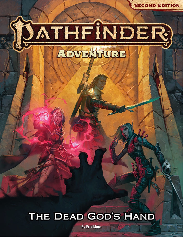 Pathfinder Second Edition Adventure The Dead Gods Hand Hardcover