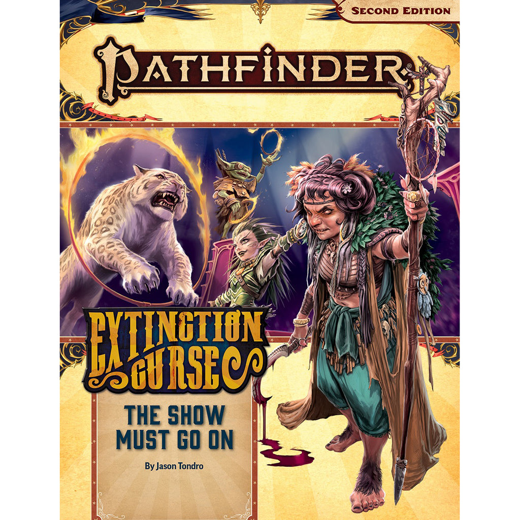 Pathfinder Second Edition Adventure Path #151 The Show Must Go On Extinction Curse 1 of 6