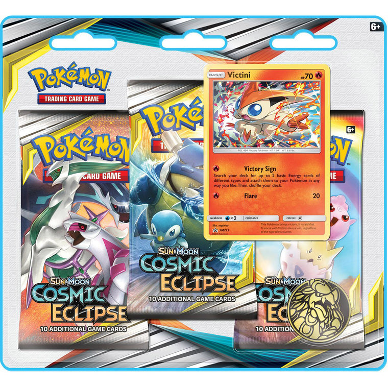 Pokémon Cosmic Eclipse Victini 3 Booster Pack Blister