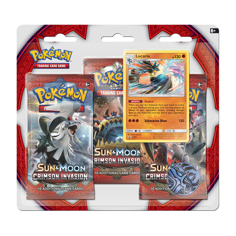 Pokémon Crimson Invasion Lucario 3 Booster Pack Blister