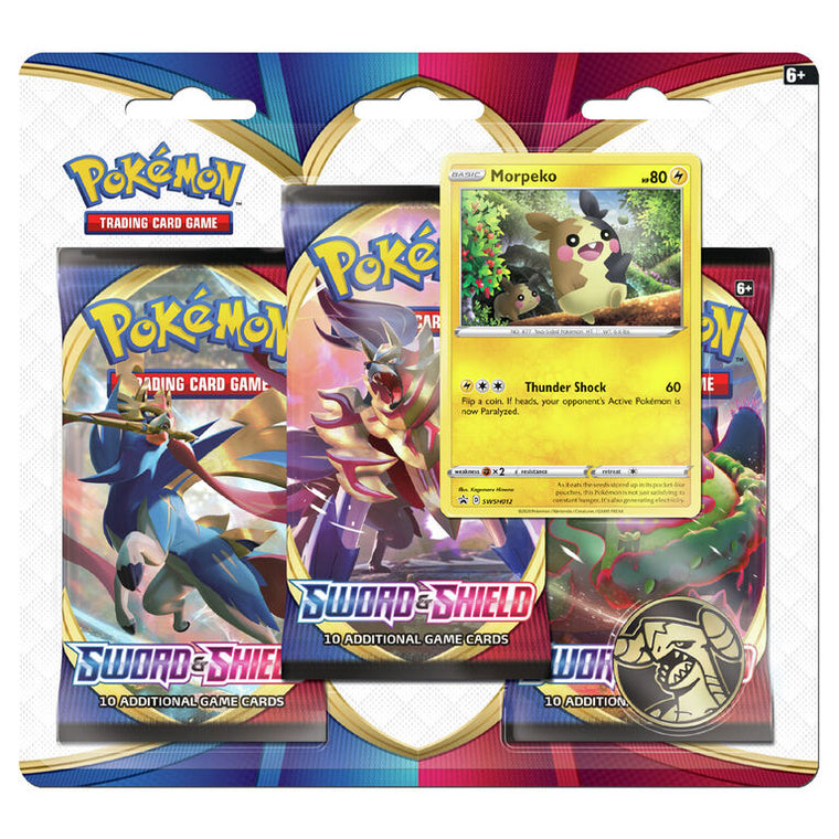 Pokémon Sword & Shield Morpeko 3 Booster Pack Blister