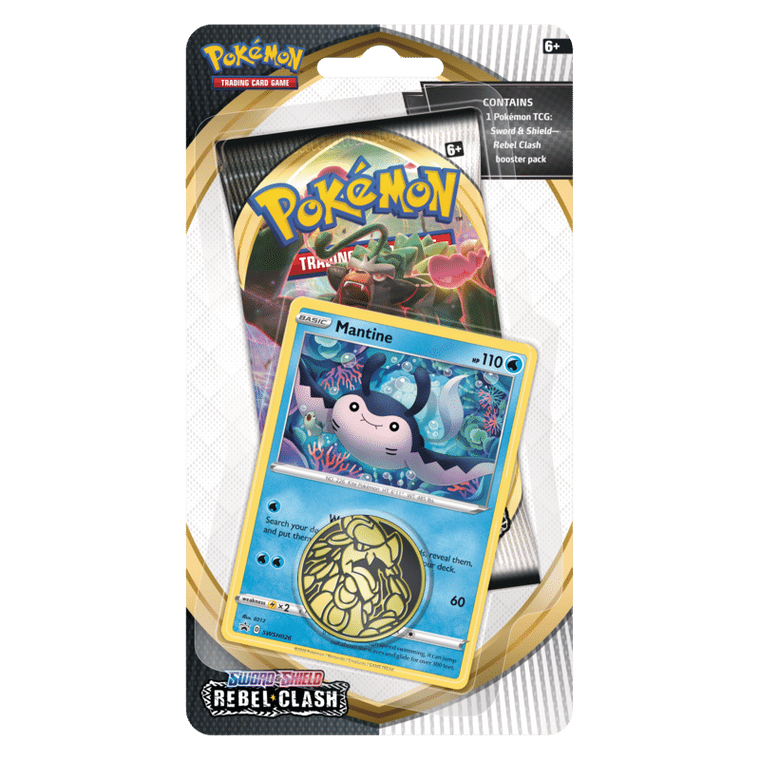 Pokémon Sword & Shield Rebel Clash Check Mantine Lane Blister Pack