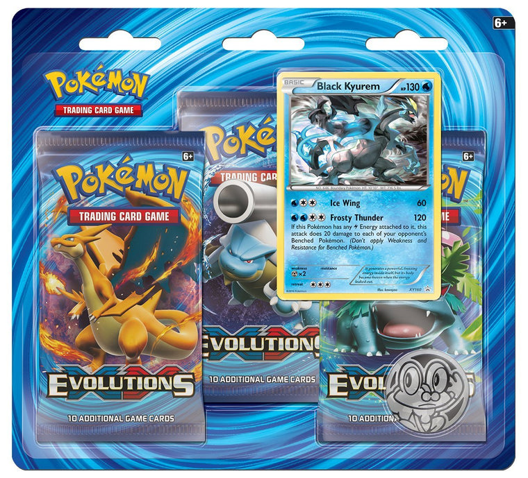 Pokémon XY Evolutions Black Kyurem 3 Booster Pack Blister