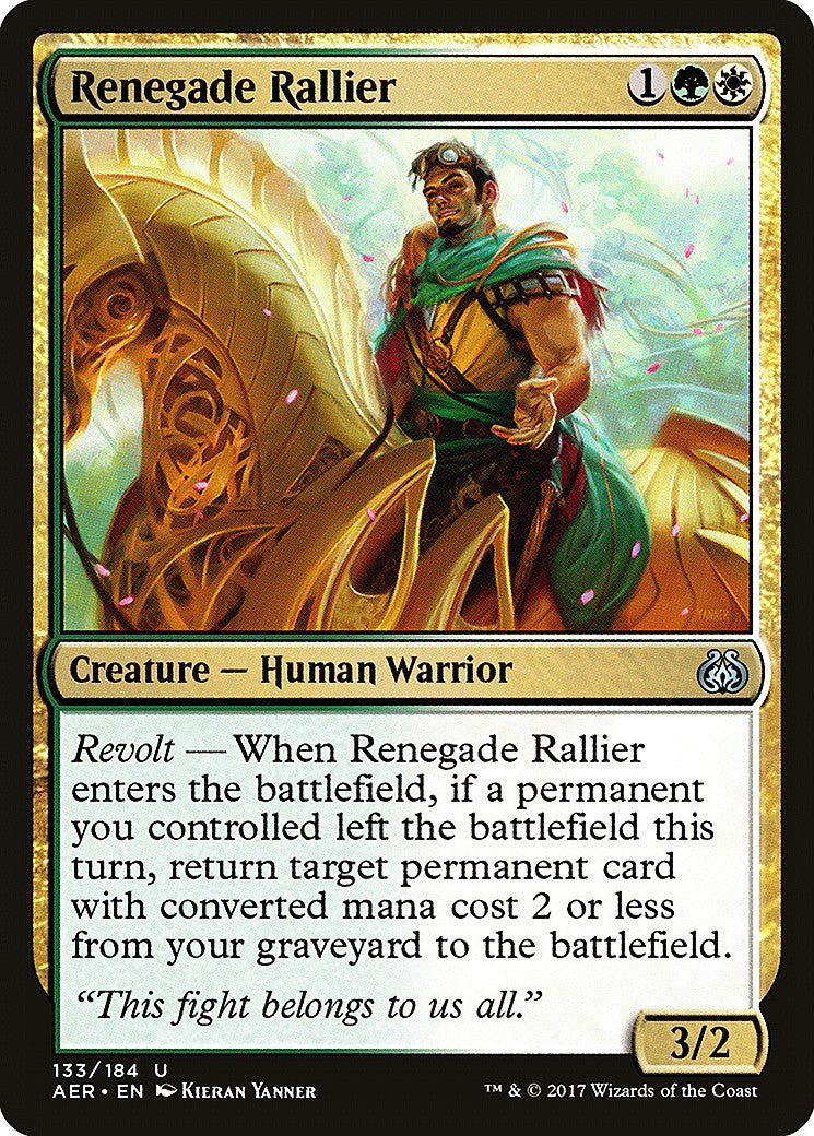 Aether Revolt Renegade Rallier