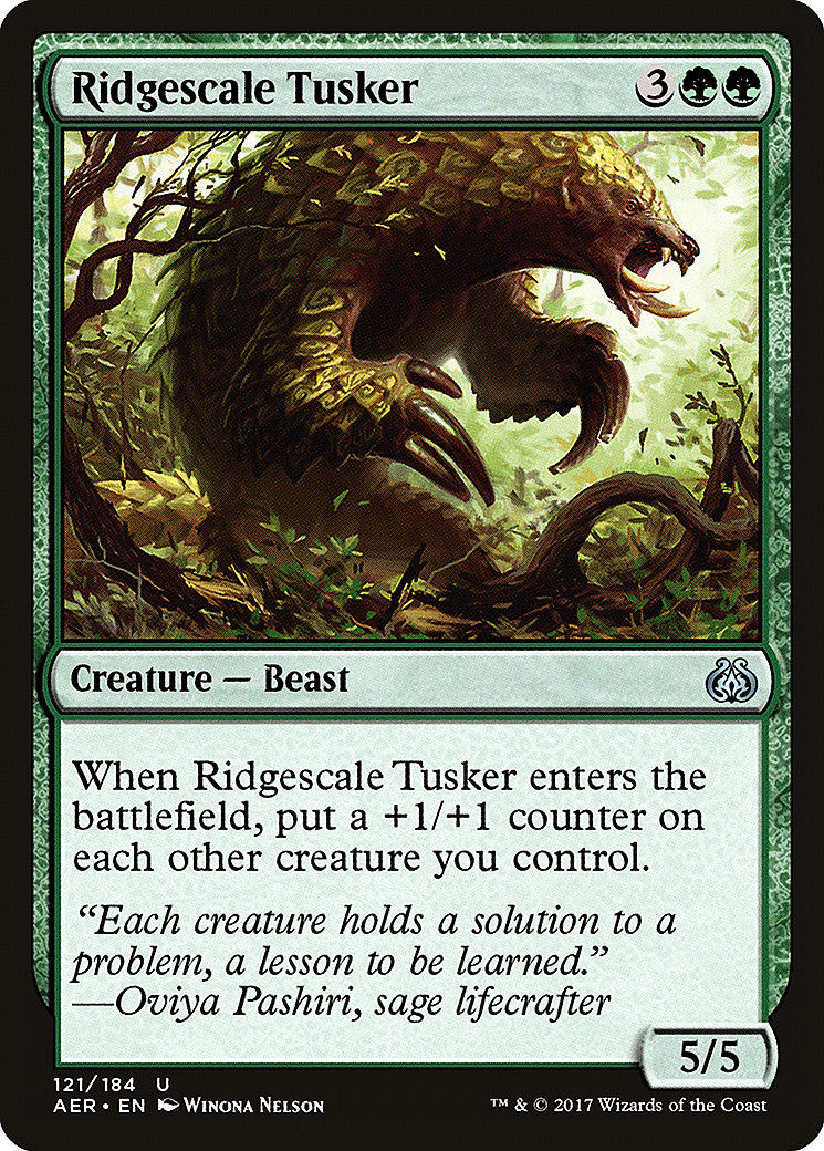 Aether Revolt Ridgescale Tusker