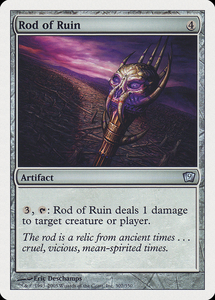 9th Edition Rod of Ruin