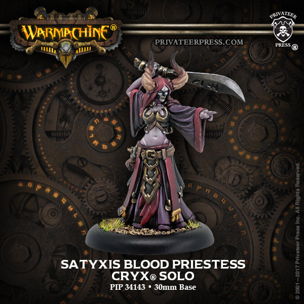 Warmachine Cryx Satyxis Blood Priestess