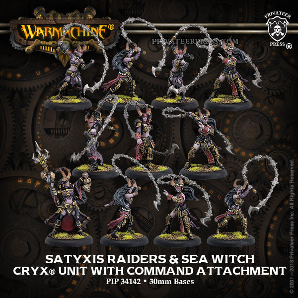 Warmachine Cryx Satyxis Raiders & Sea Witch