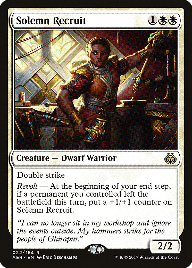 Aether Revolt Solemn Recruit