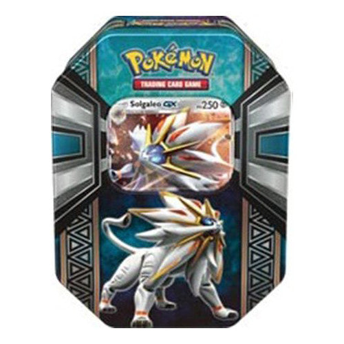 Pokémon Legends of Alola Solgaleo GX Tin