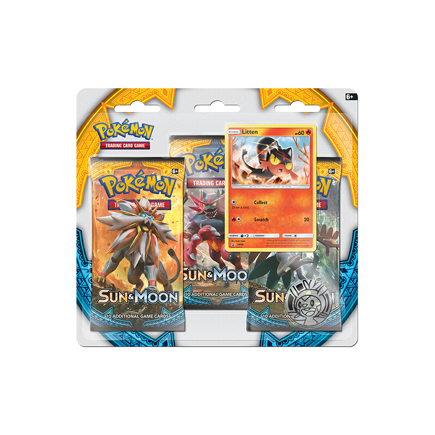 Sun & Moon Litten 3 Booster Pack Blister