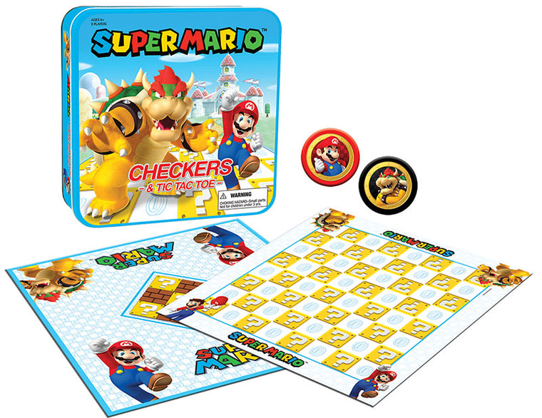 CHECKERS & TIC TAC TOE: Super Mario vs. Bowser