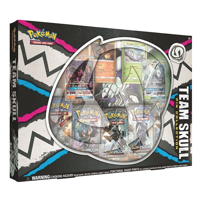 Pokémon Team Skull Pin Collection Box