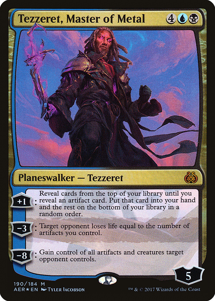 Aether Revolt Tezzeret, Master of Metal