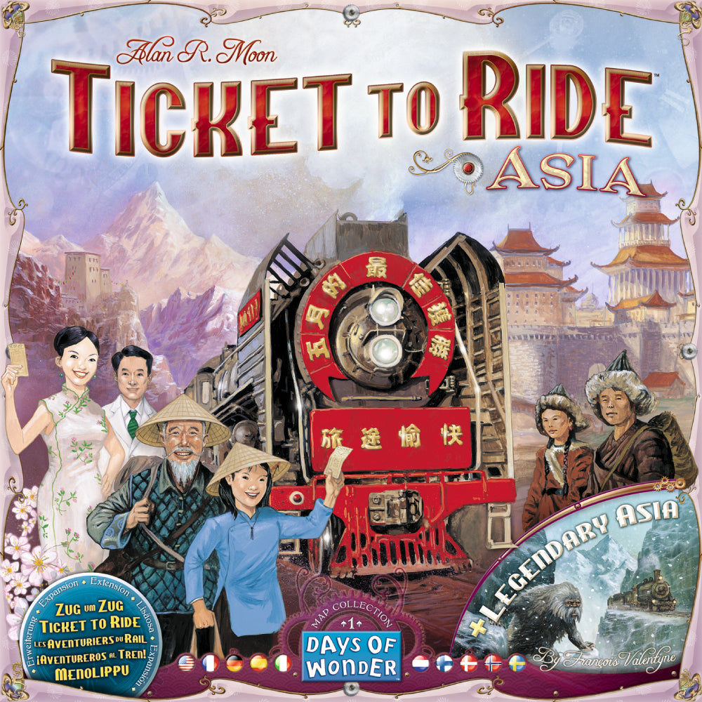 Ticket to Ride Map Collection Asia