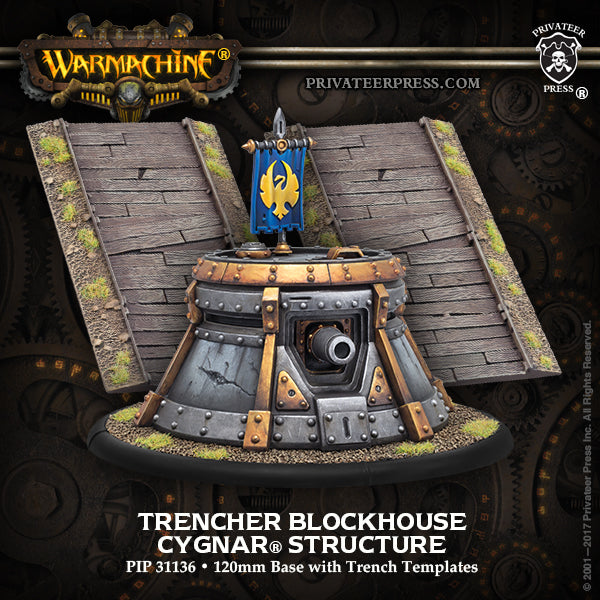 Warmachine Cygnar Trencher Blockhouse