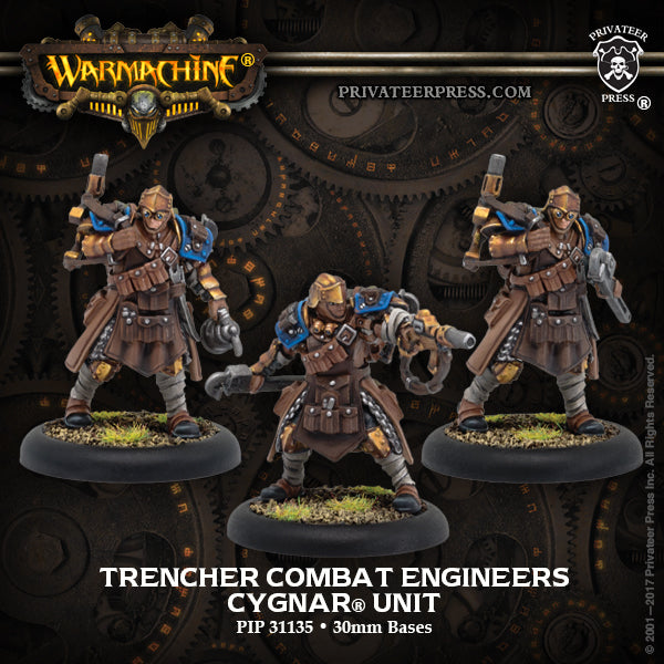 Warmachine Cygnar Trencher Combat Engineers