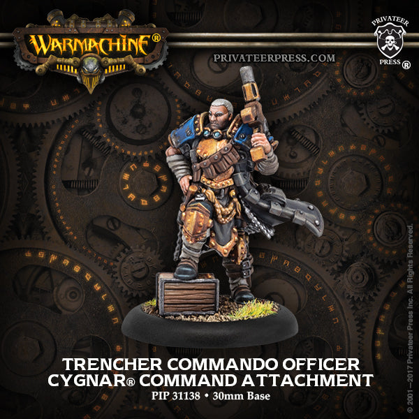 Warmachine Cygnar Trencher Commando Officer