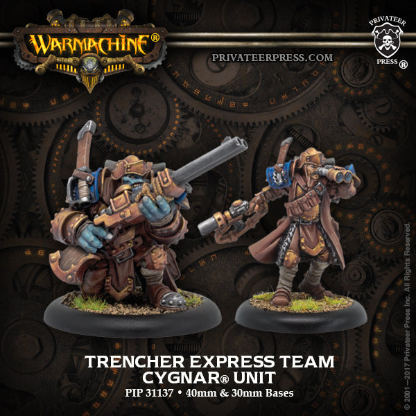 Warmachine Cygnar Trencher Express Team