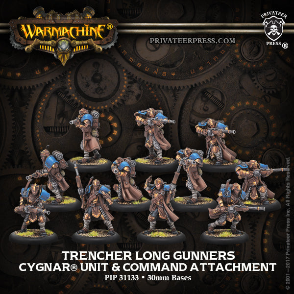 Warmachine Cygnar Trencher Long Gunners