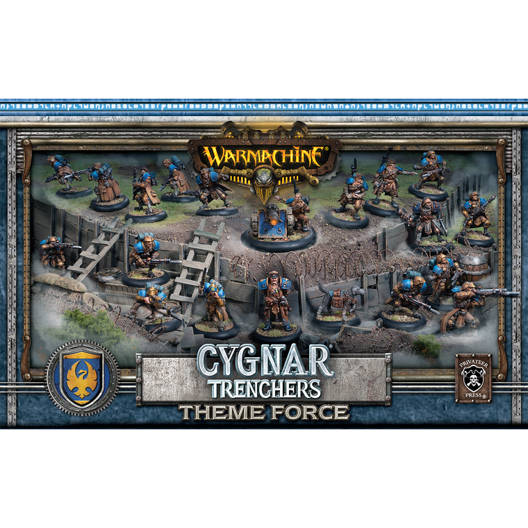 Warmachine Cygnar Trenchers Theme Force