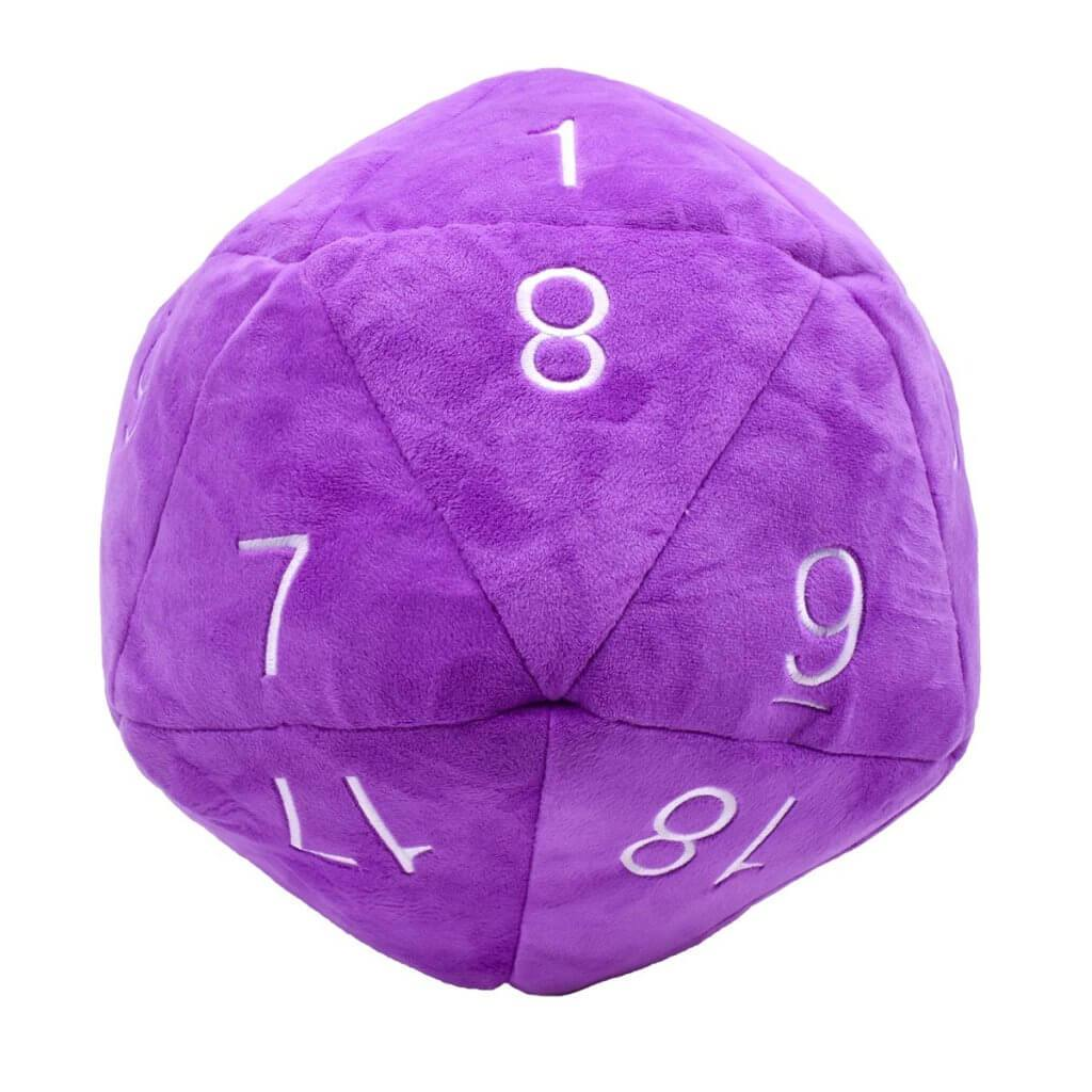 "Ultra Pro D20 10"" Jumbo Plush Dice Purple with White"
