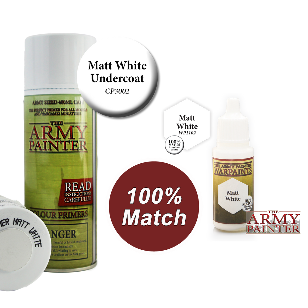 WarPaints MATT WHITE 18 ml