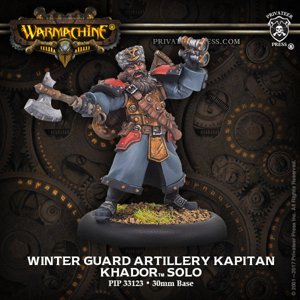 Warmachine Khador Winter Guard Artillery Kaptain