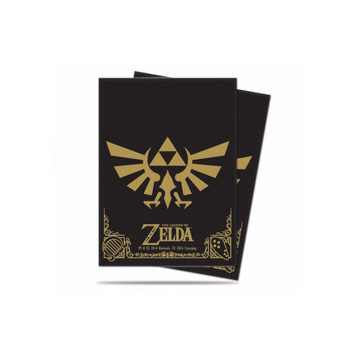 Ultra Pro Deck Protector Sleeves Zelda Black & Gold 65