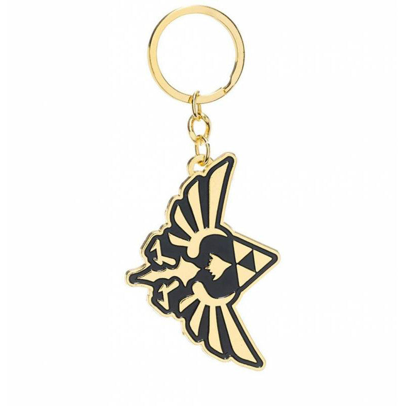 Zelda Gold & Black Metal Keychain