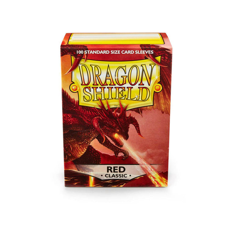 Dragon Shield Sleeves Red 100CT Standard Size