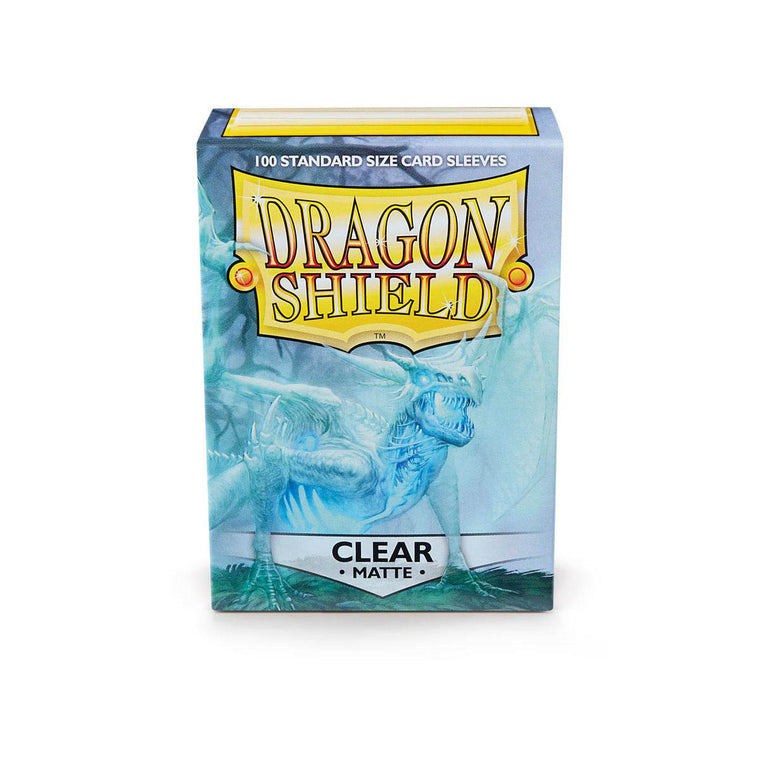 Dragon Shield Sleeves Matte Clear 100CT Standard Size