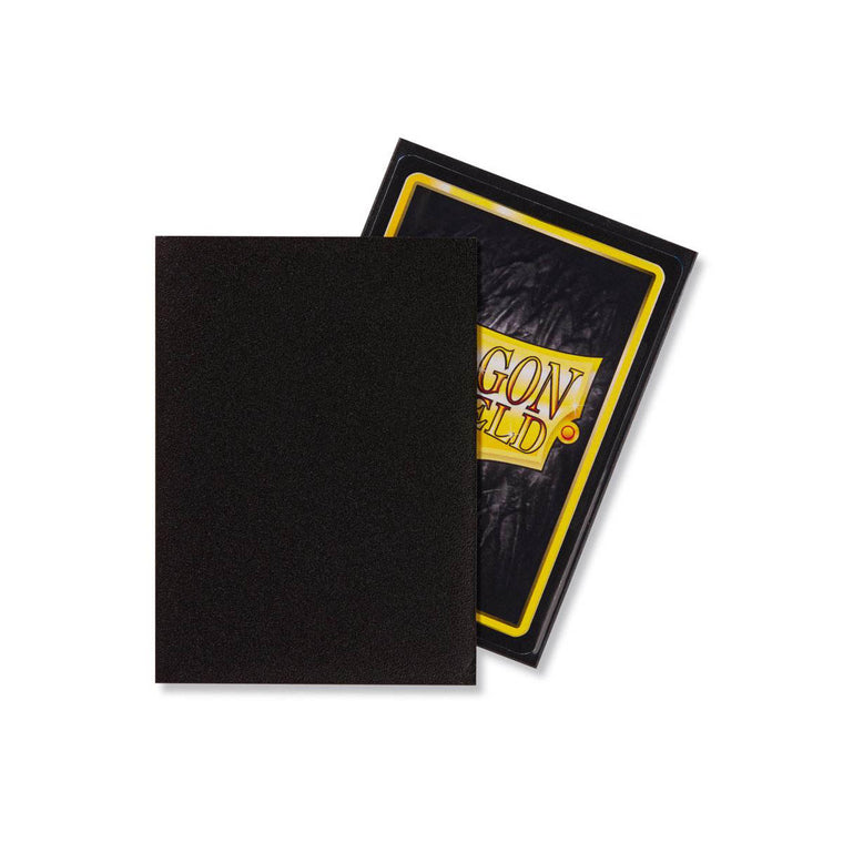 Dragon Shield Sleeves Matte Black 100CT Standard Size