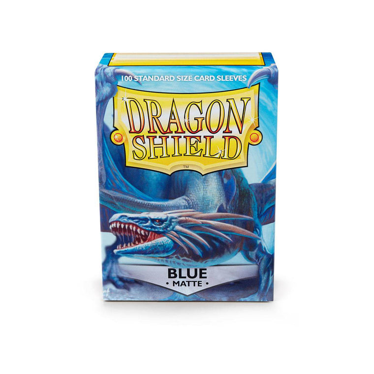 Dragon Shield Sleeves Matte Blue 100CT Standard Size